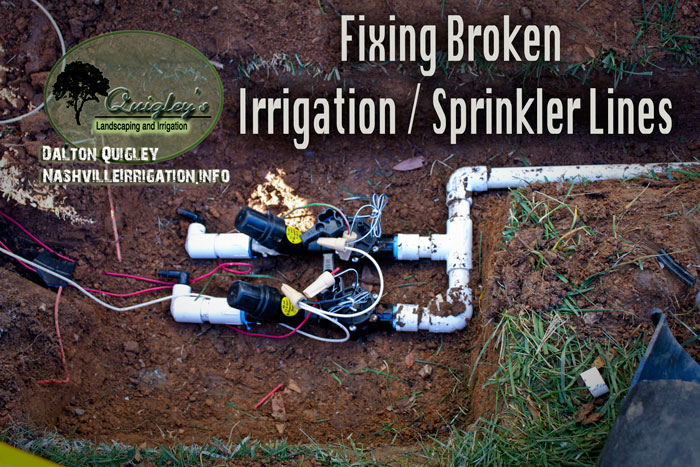 Fixing-Broken-Irrigation-Sprinkler-Lines-Hoses-Pipes-Nashville-TN We also service Brentwood, Franklin, Spring Hill, and Nolensville TN.