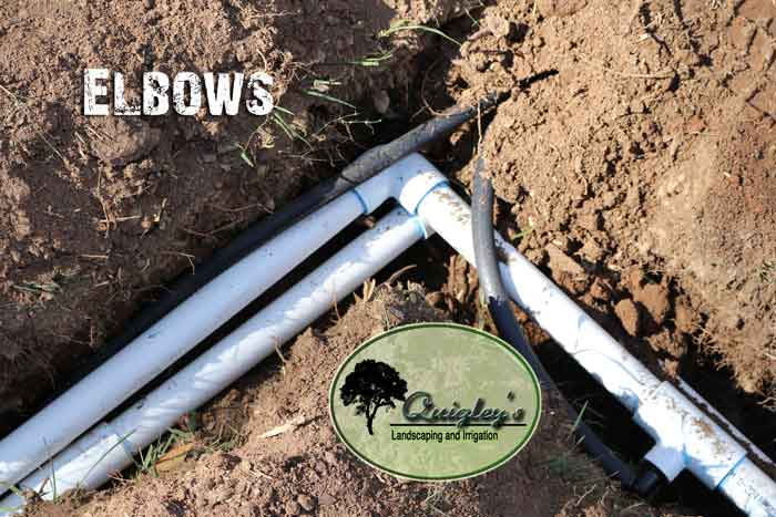 Elbows-on-irrigation-lines-Nashville, Brentwood, Franklin, Spring Hill, and Nolensville TN Irrigation help.